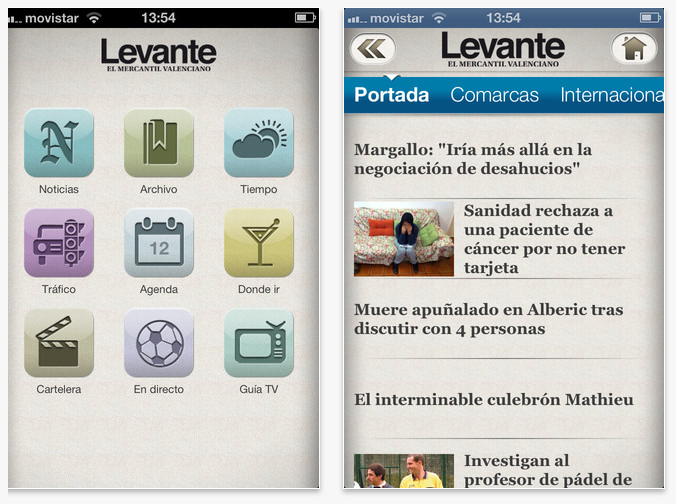 Levante-EMV app Iphone