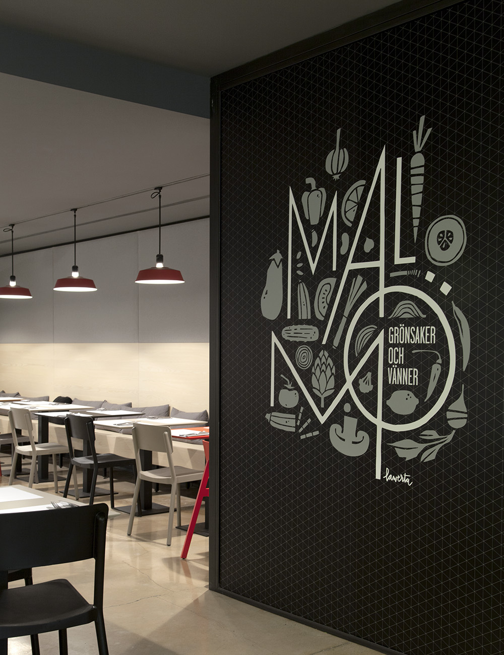 Proyecto restaurante malm de borja garc a studio for Graphic design interior design