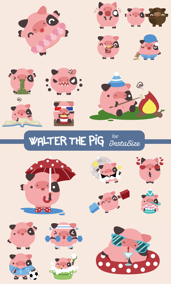 dissenycv.es-squid&pig-walter_the_pig_stickers_by_squidandpig